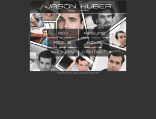 jasonhuberactor.com screenshot