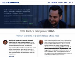 jasonvanorden.com screenshot
