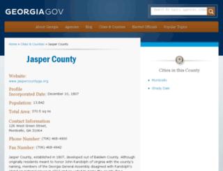 jaspercounty.georgia.gov screenshot