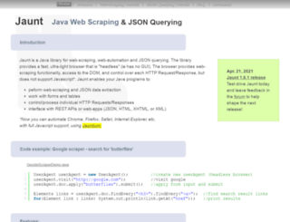 jaunt-api.com screenshot