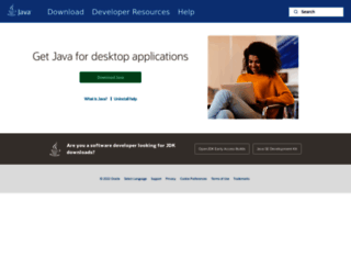 java.com screenshot