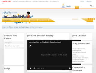 java.net screenshot