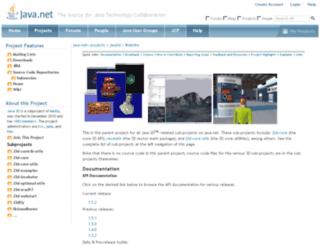 java3d.java.net screenshot