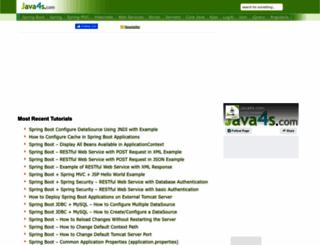 java4s.com screenshot