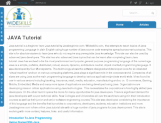 javabeginner.com screenshot