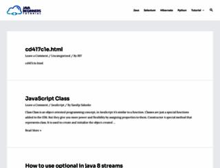javabeginnerstutorial.com screenshot