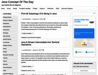 javaconceptoftheday.com screenshot