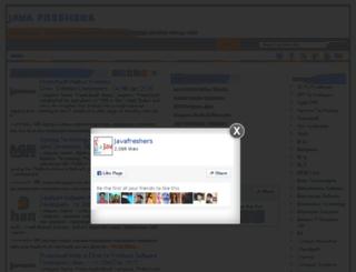 javafreshers.com screenshot