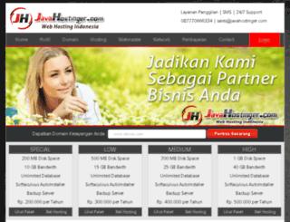 javahostinger.com screenshot