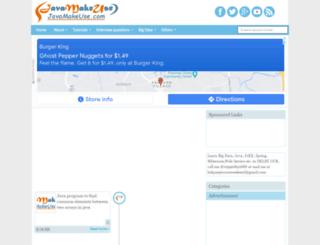 javamakeuse.com screenshot