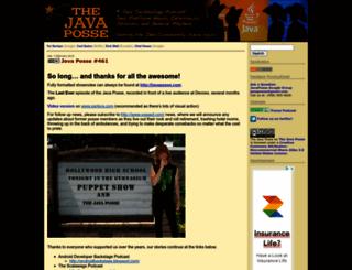 javaposse.com screenshot