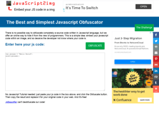 javascript2img.com screenshot