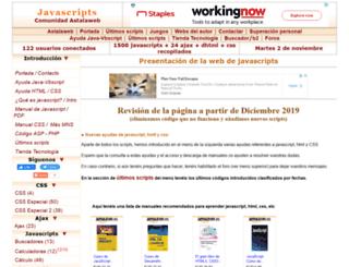 javascripts.astalaweb.com screenshot