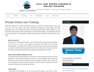 javatutoronline.com screenshot