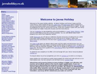 javeaholiday.co.uk screenshot