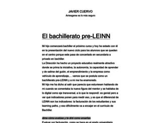 javiercuervo.com screenshot