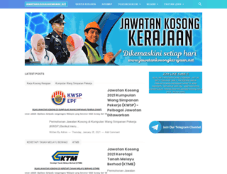 jawatankosongkerajaan.net screenshot