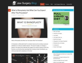 jawsurgeryblog.com screenshot