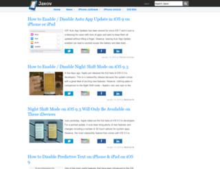 jaxov.com screenshot