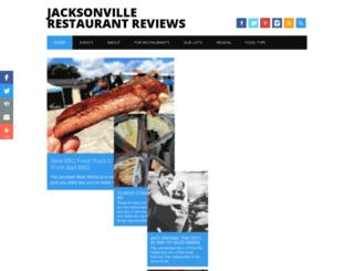 jaxrestaurantreviews.com screenshot