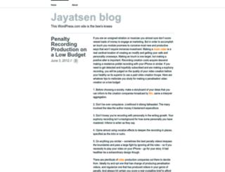 jayatsen.wordpress.com screenshot