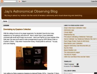jaysastronomyobservingblog.blogspot.com screenshot