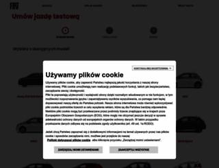 jazdyprobne.fiat.pl screenshot