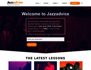 jazzadvice.com screenshot