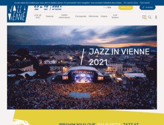 jazzavienne.com screenshot