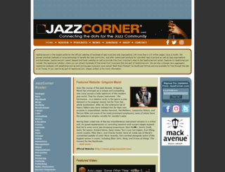 jazzcorner.com screenshot