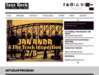 jazzdock.cz screenshot