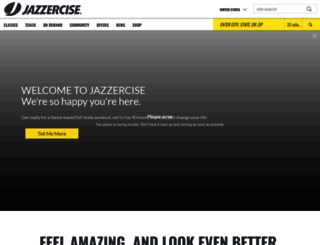 jazzercise.com screenshot