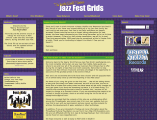 jazzfestgrids.com screenshot
