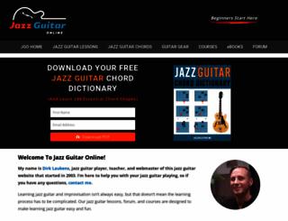 jazzguitar.be screenshot