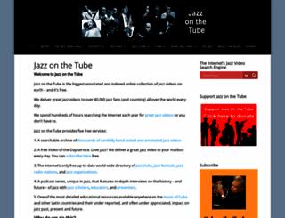 jazzonthetube.com screenshot