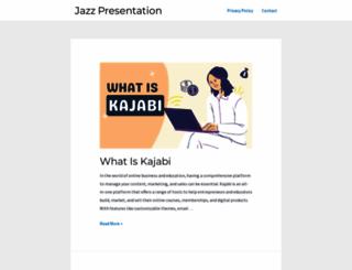 jazzpresentation.com screenshot