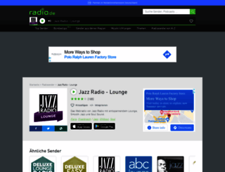 jazzradio-lounge.radio.de screenshot