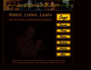 jazzstandards.com screenshot
