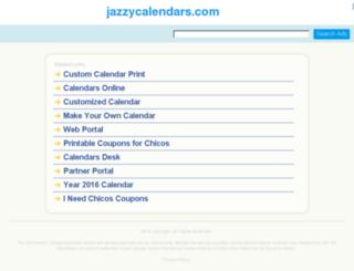 jazzycalendars.com screenshot