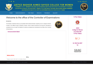 jbascollege.info screenshot