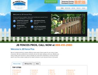 jbfencepros.net screenshot