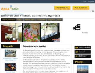 jbglasscreation-hyderabad.apnaindia.com screenshot