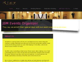 jbmeventsorganizer.com screenshot