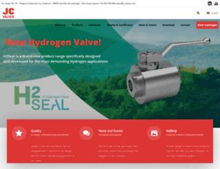 jc-valves.com screenshot