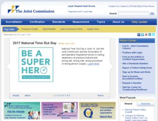 jcaho.org screenshot