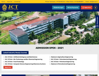 jct.ac.in screenshot