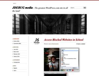 jdebugmedia.wordpress.com screenshot