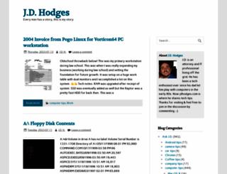 jdhodges.com screenshot