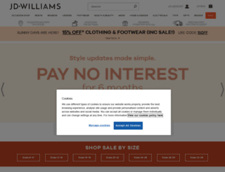jdwilliams.co.uk screenshot