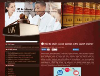 jeadvisory.com screenshot